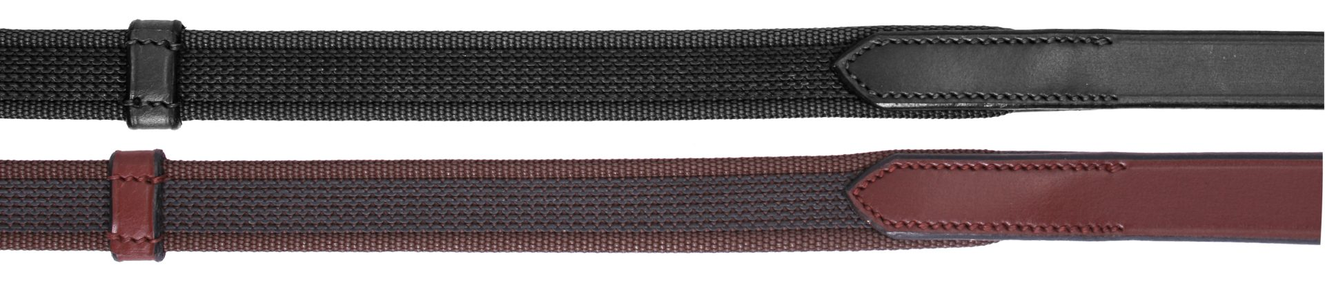Platinum Sure Grip Reins With Stoppers