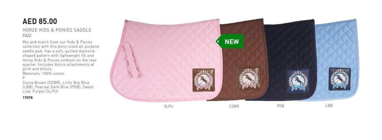 kids and pony saddle pad