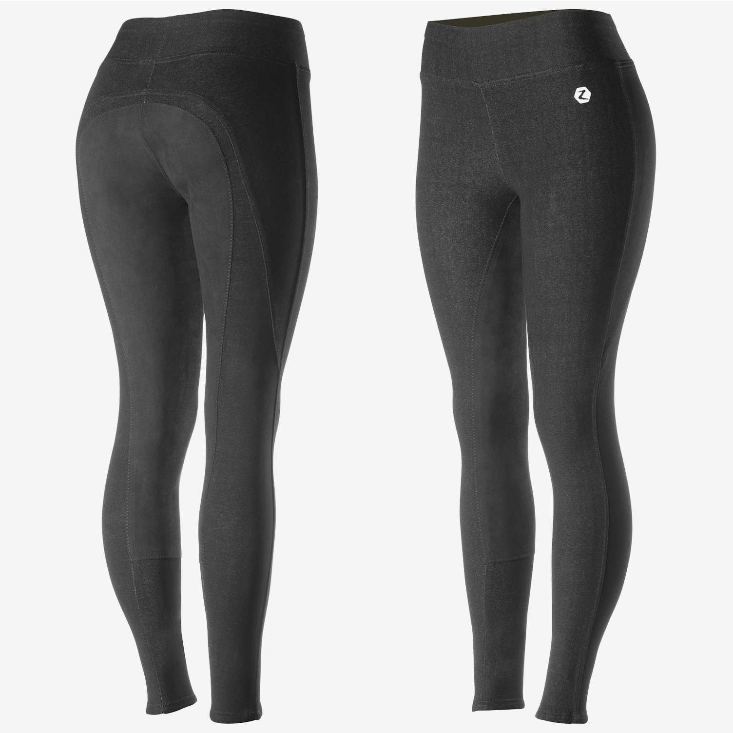 active full seat tights black