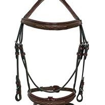 Patent Piping Padded Bridle
