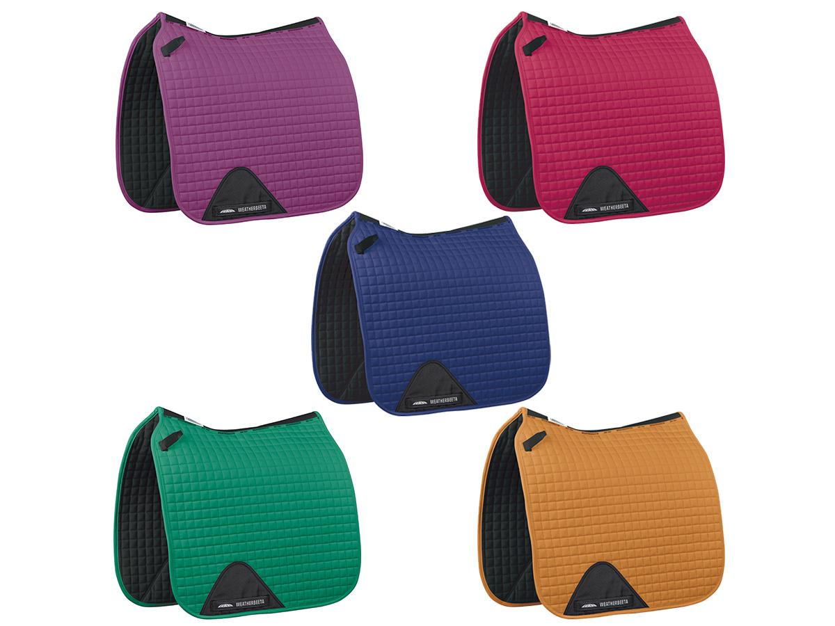 prime-dressage-saddle-pads-amethyst-calcite-sodalite-emerald-topaz