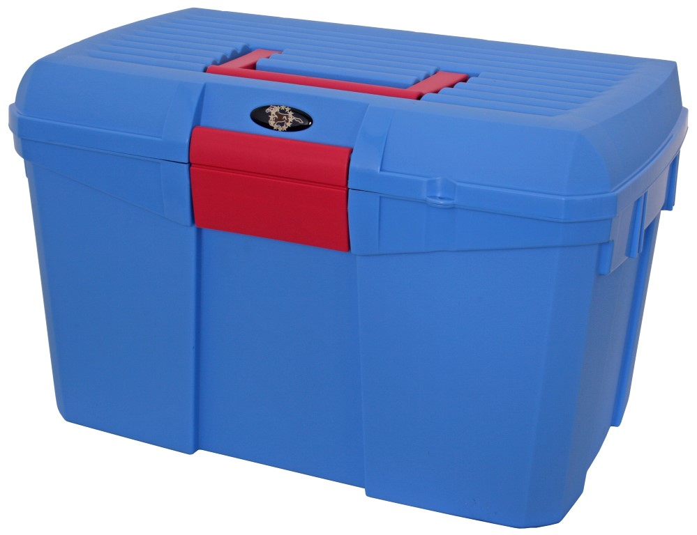 stackable grooming box blue