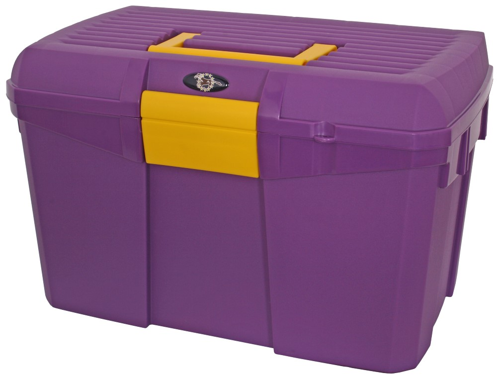 stackable grooming box purple