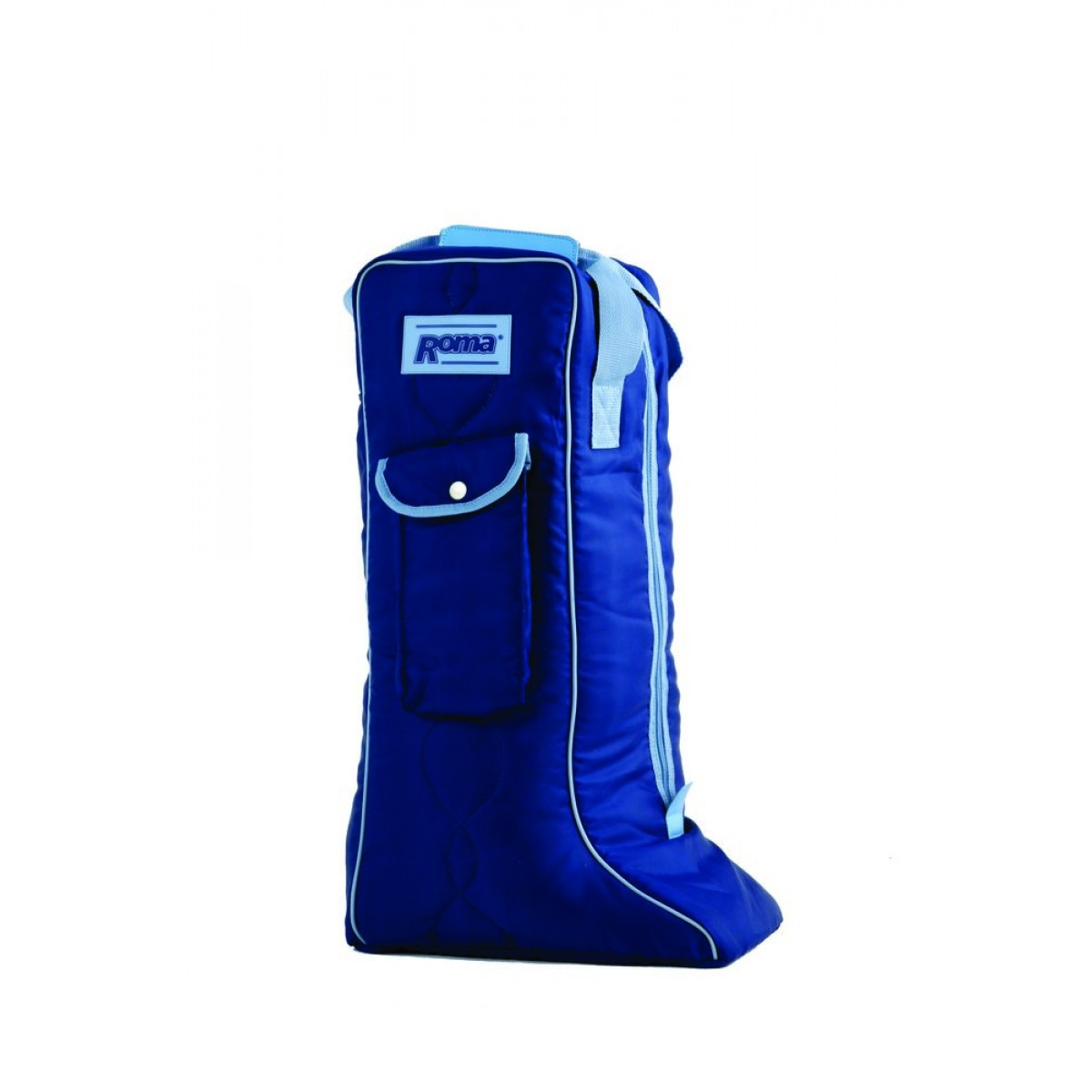 tall boot bag nvy-lblue