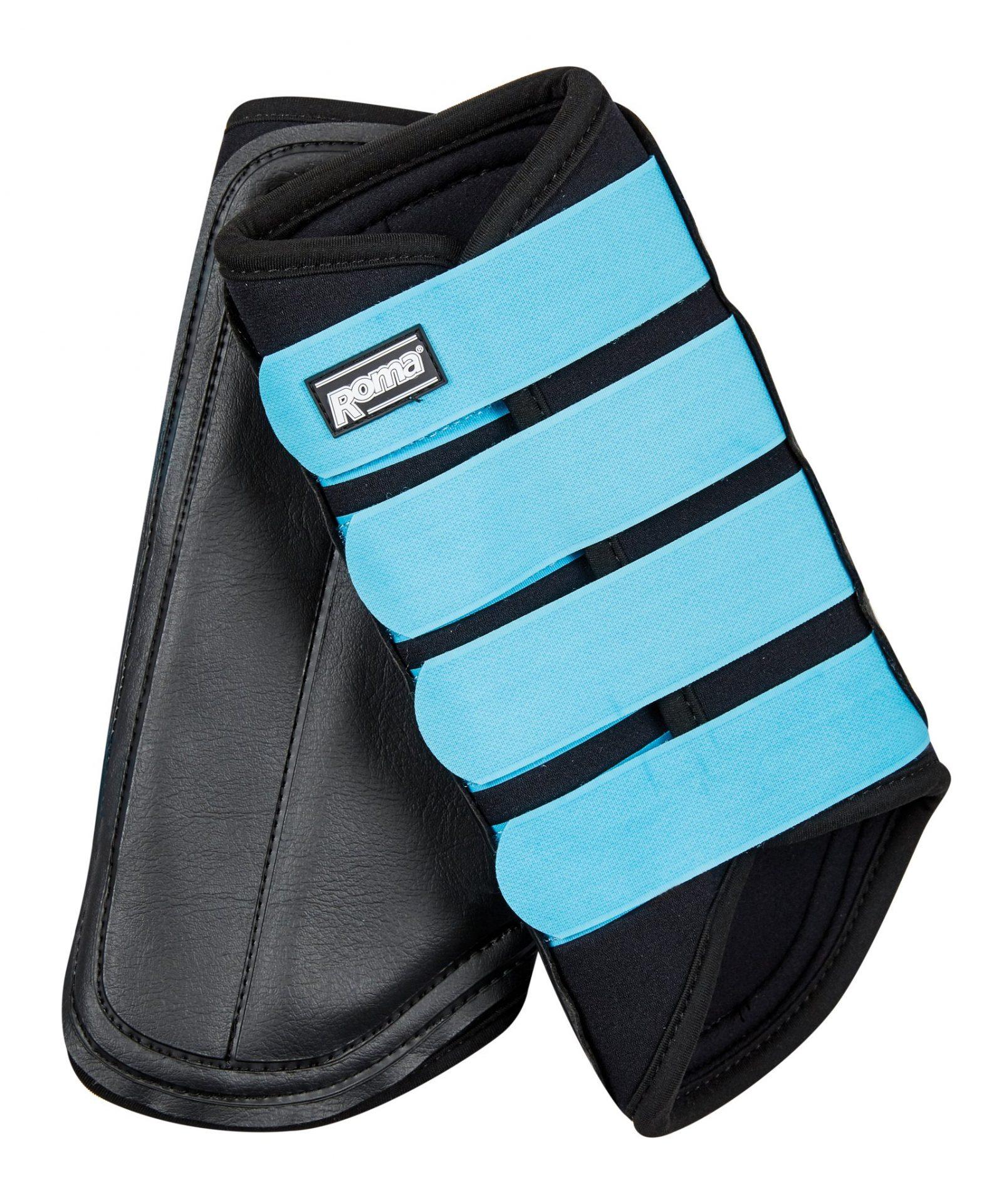 Neoprene Brushing Boots Black Blue