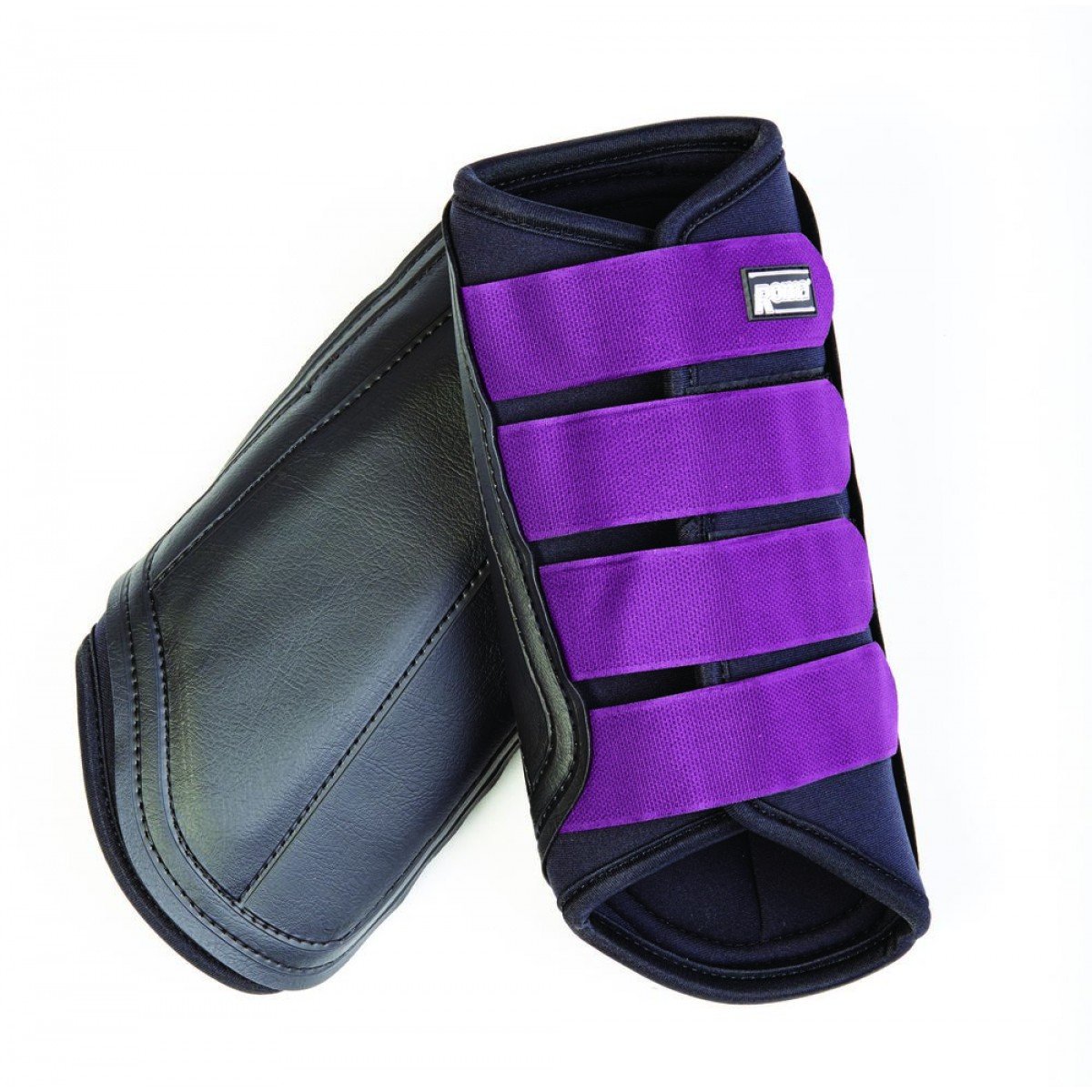 Neoprene Brushing Boots Black Purple