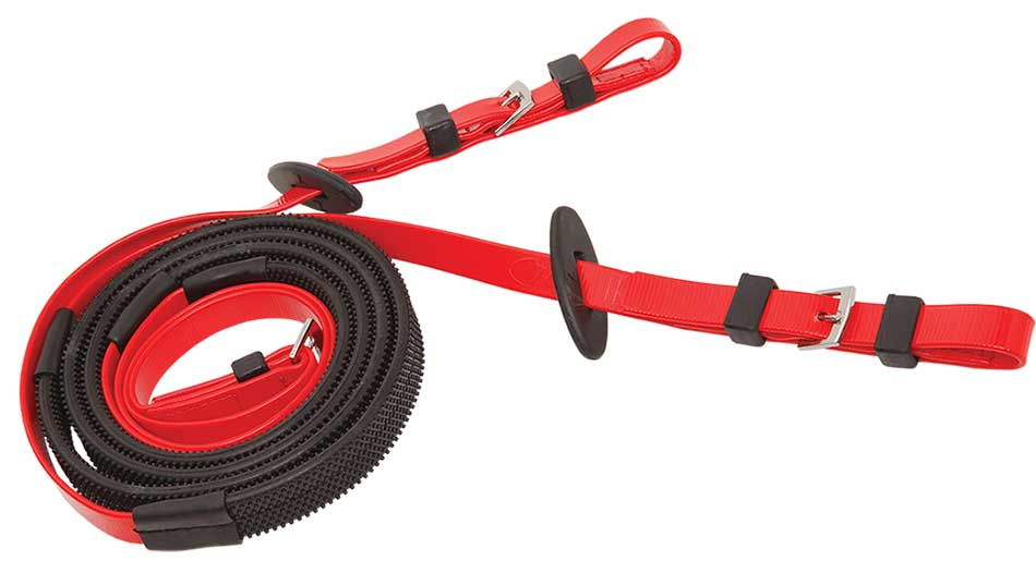 16mm buckle end black red