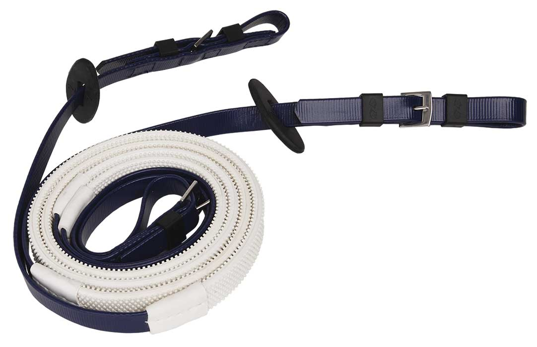 16mm buckle end navy white