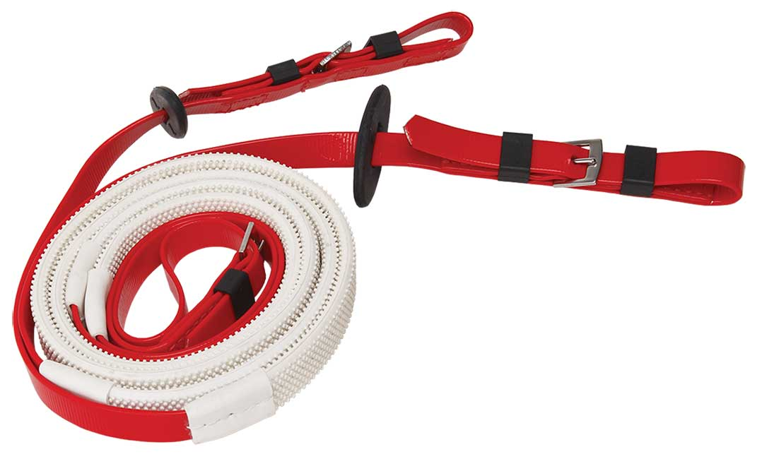 16mm buckle end red white