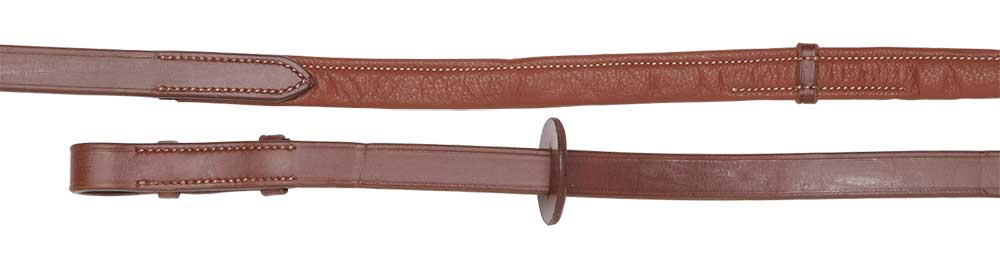 extra soft padded reins brown