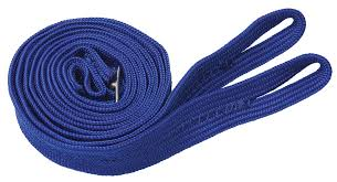 plain nylon reins blue