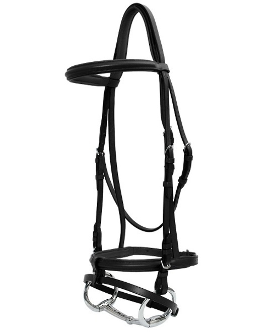 Padded Raised Hanoverian Bridle Head