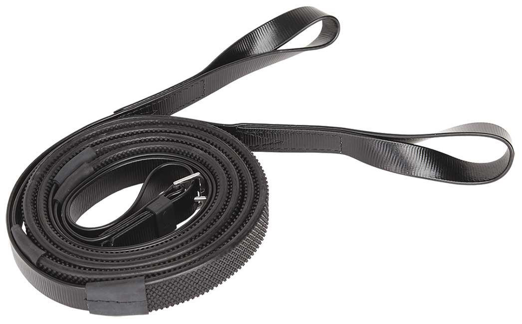 Loop end reins black