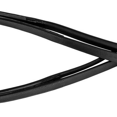 rubber back reins black
