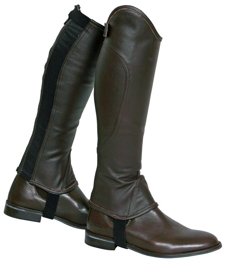 soft leather gaiter brown