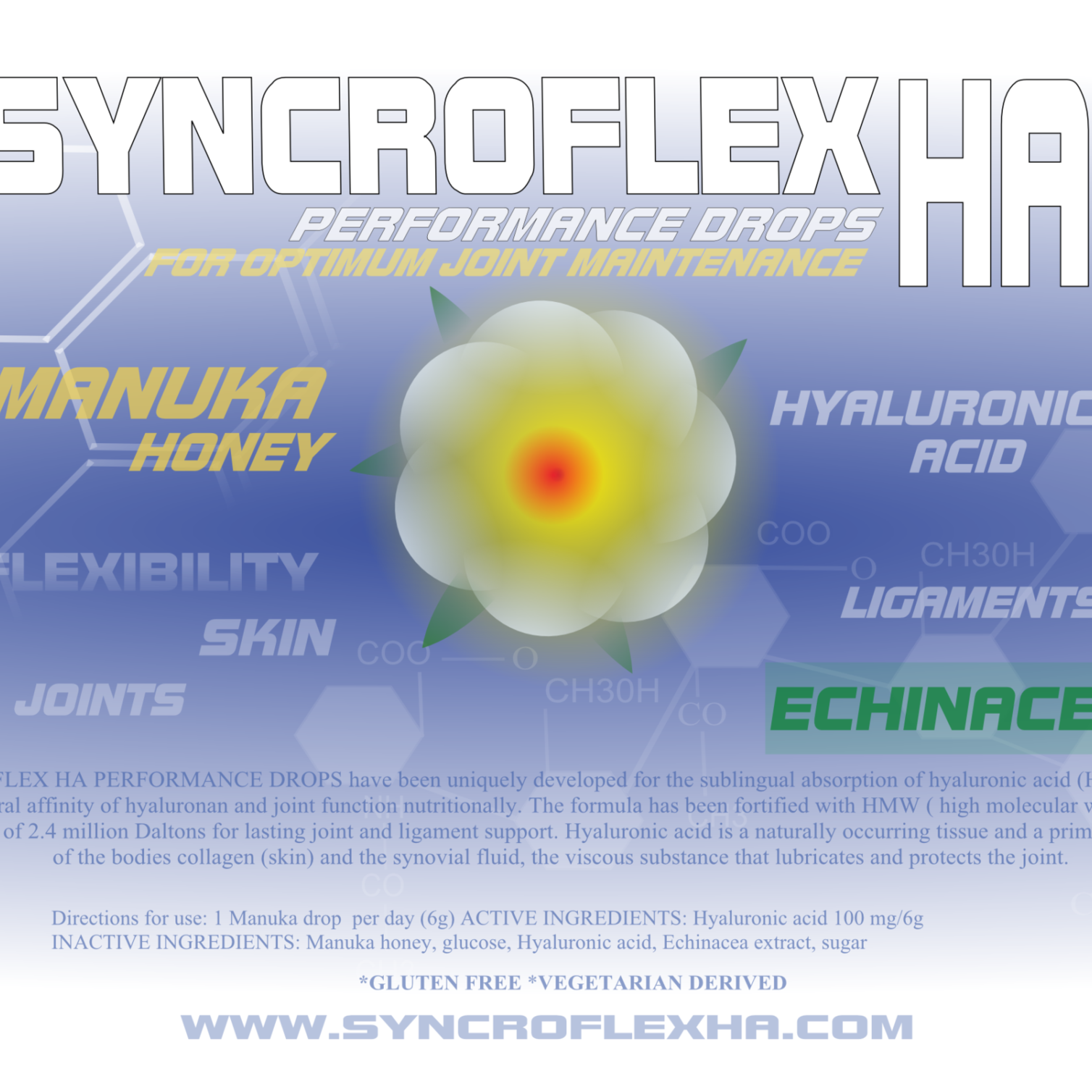 SYNCROFLEX HA MANUKA HONEY PERFORMANCE DROPS
