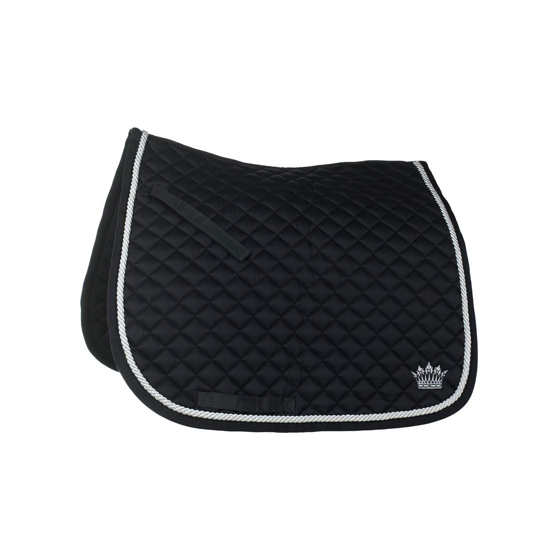 Silver-Cord Dressage Saddle Pad black