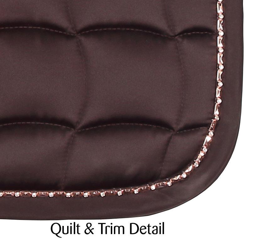 Bracelet Trim Dressage Saddlecloth brown ii