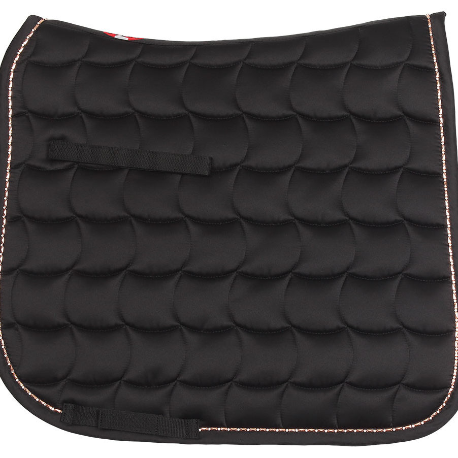 Bracelet trim dressage saddlecloth black
