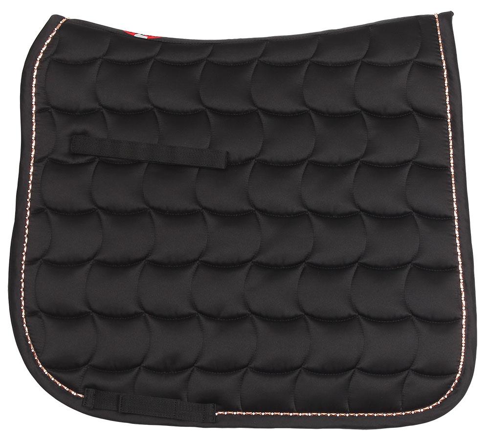 Bracelet trim dressage saddlecloth black