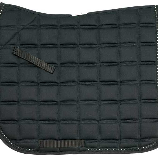 Diamante Trim Dressage Saddlecloth black