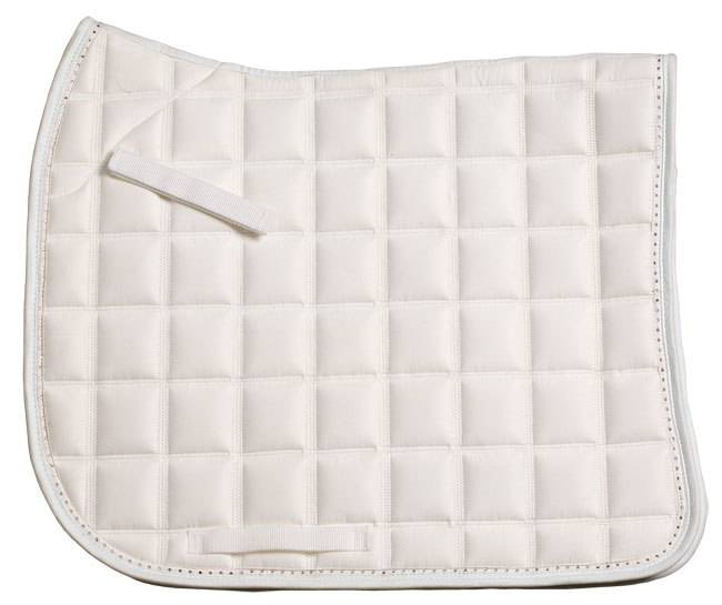 Diamante Trim Dressage Saddlecloth white