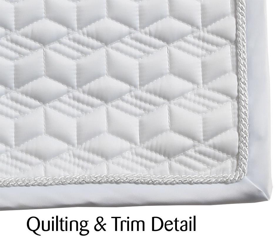 Diamonds Dressage Saddlecloth white