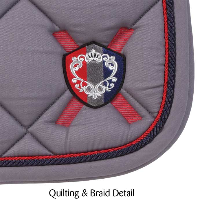 Monarch Dressage Saddlecloth grey ii