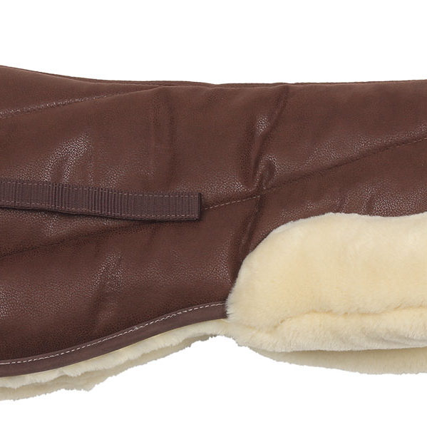Suede/Fleece Half Pad brown