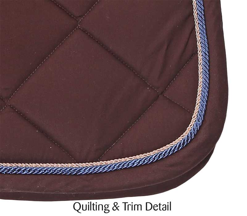royalty dressage saddlecloth cocolate ii