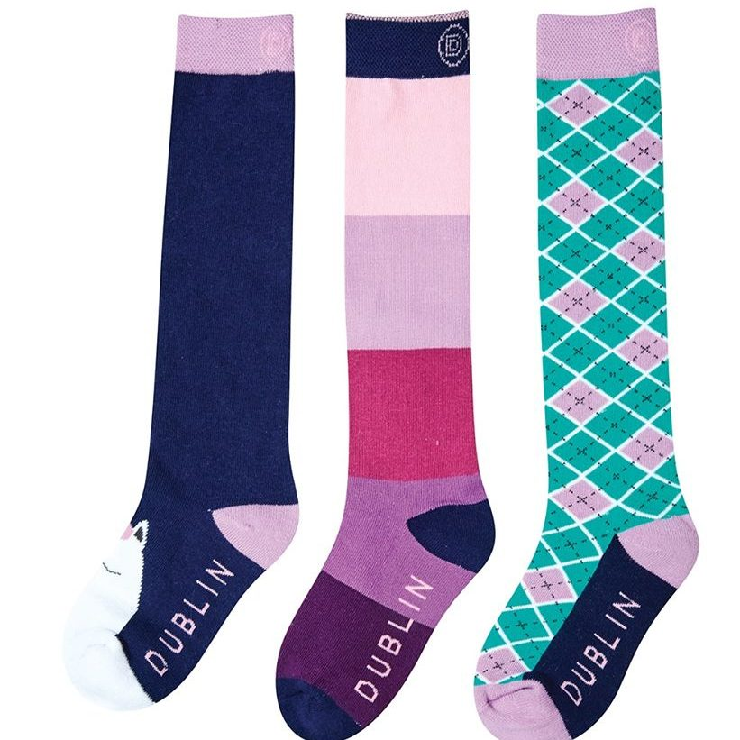 Becky 3 pack childs socks