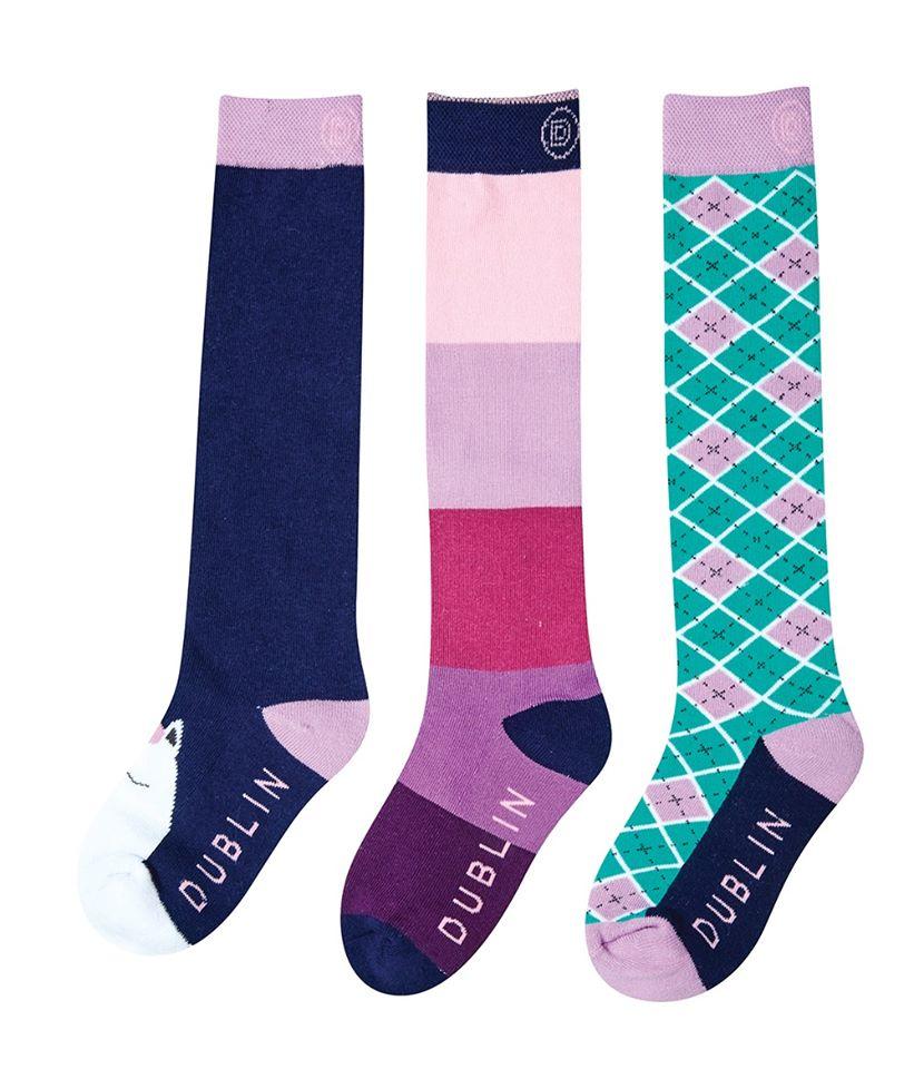 Becky 3 pack childs socks