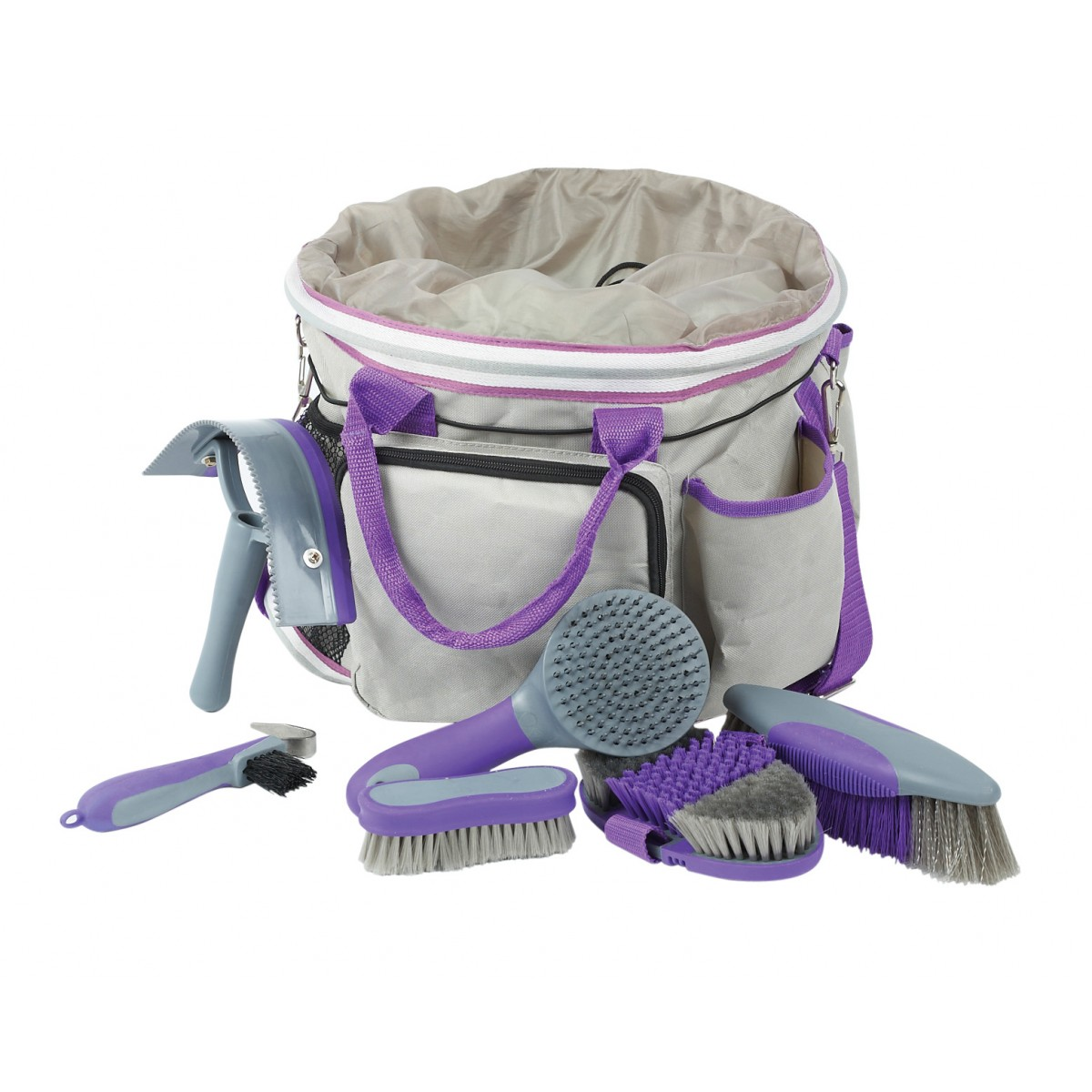 Roma-Deluxe-Grooming-Bag-Purp-Grey