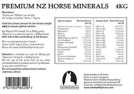 premium nz horse minerals