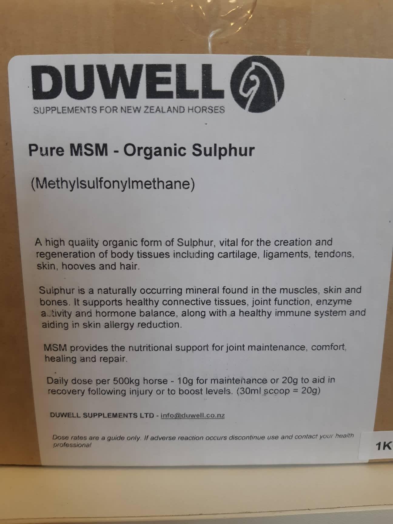 duwell pure msm